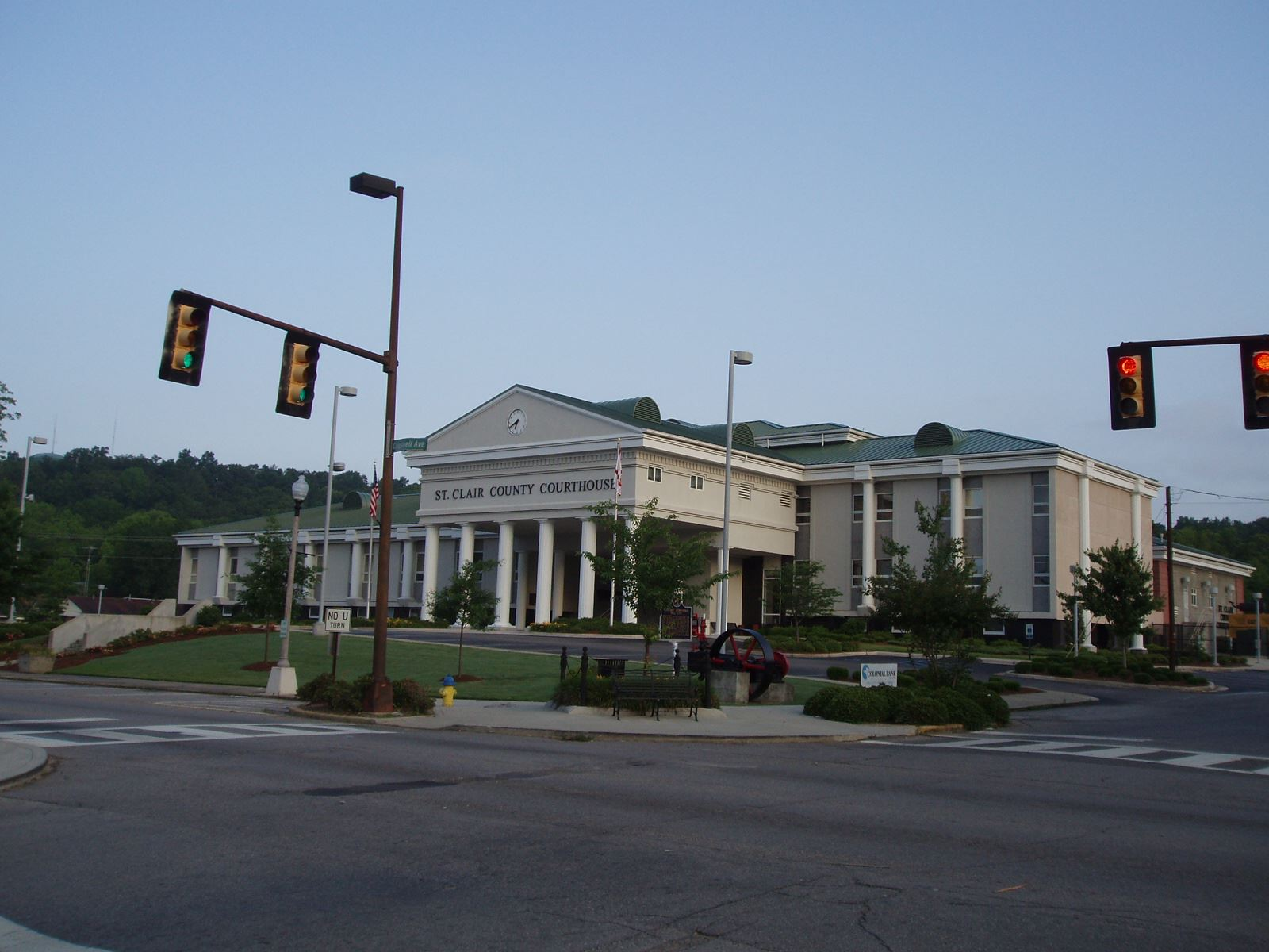 Pell City Courthouse with Steam Engine